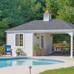 Decks Plus - Traditional White Vinyl Pavilion