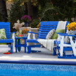 Decks Plus - Poly Furniture - Blue White Curve Backs