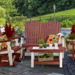 Decks Plus - Burgundy Glider Set Poly Furniture