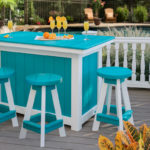 Decks Plus - Poly Furniture - Island with Stools