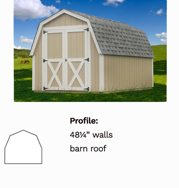 Gambrel Sheds - Decks Plus