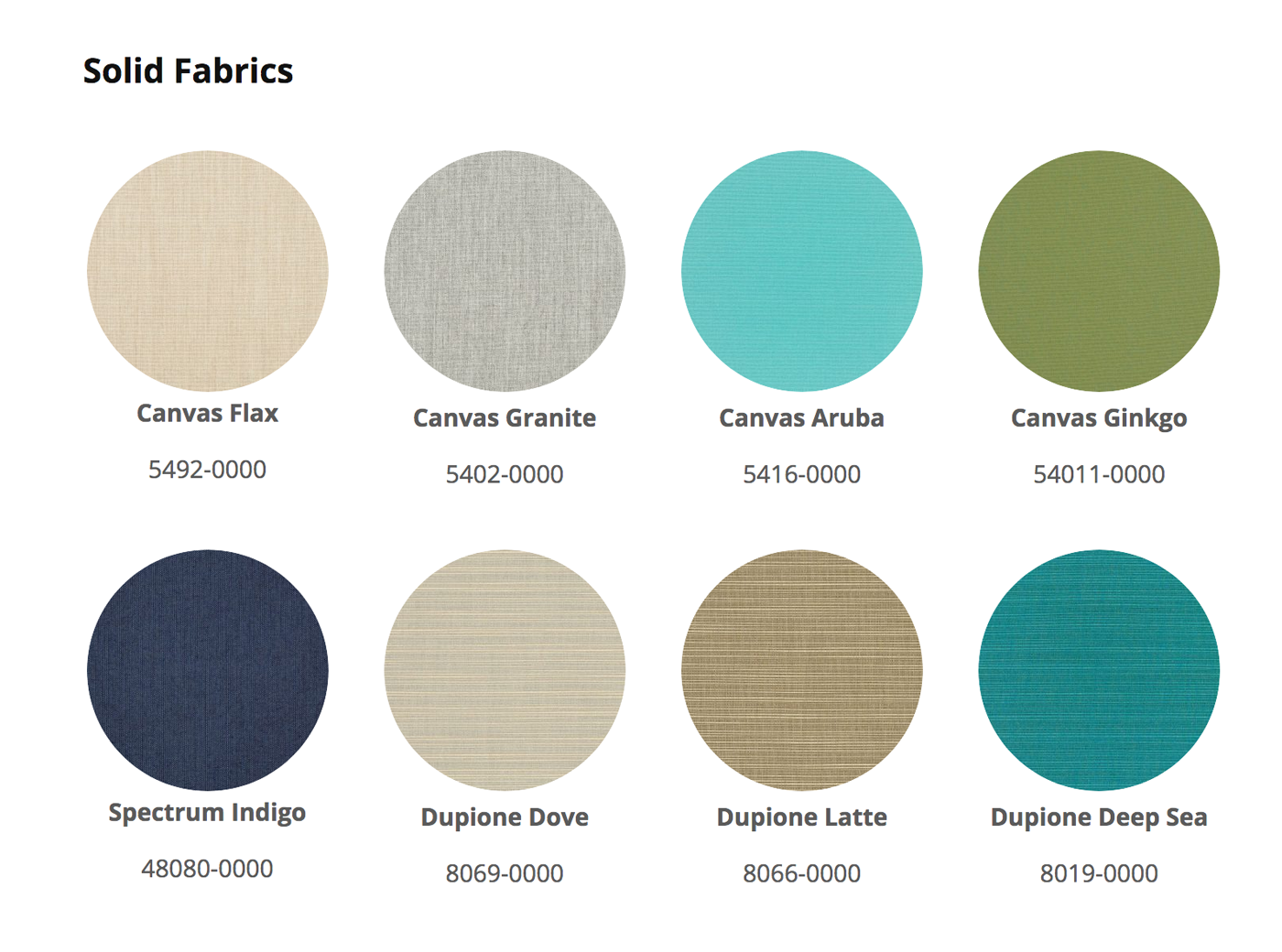 Poly Furniture Solid Color Fabrics